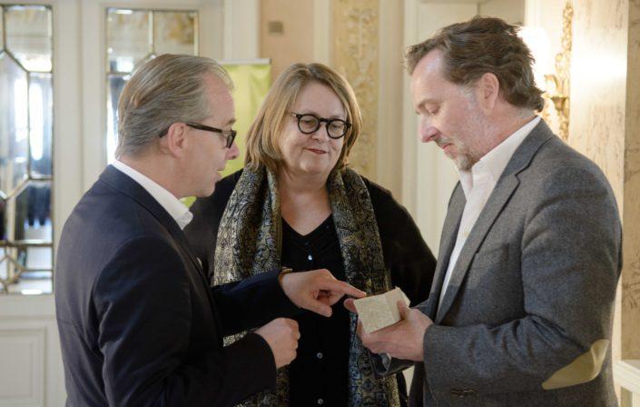Thorsten Schmidt, Eleonore Büning, Christian Gerhaher,Musikpreis des »Heidelberger Frühling« 2016