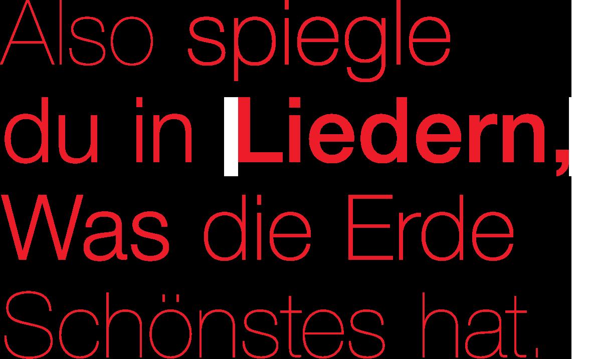 Das Lied – Heidelberger Frühling 2018
