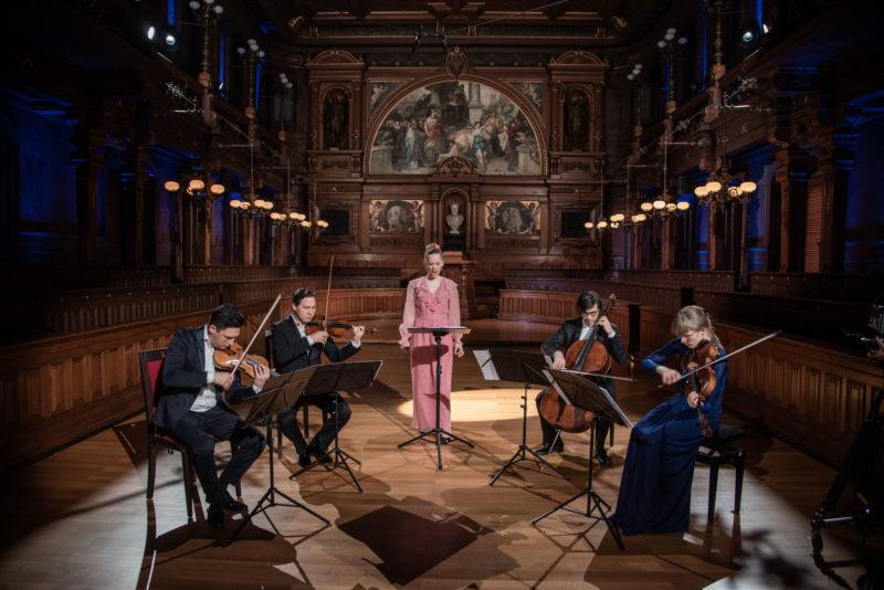 Schumann Quartett mit Anna Lucia Richter (Foto: Anna Lucia Richter (Foto: studio visuell photography)